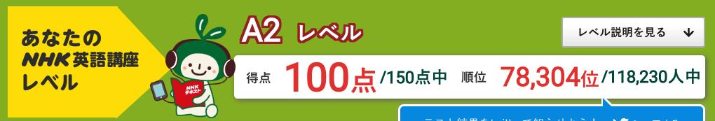 2020.2.24は100点でした - 英語力測定テスト2020 (2020.2.1〜2021.1.31 (C)NHK出版)